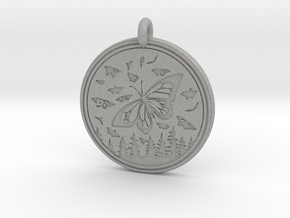 Monarch Butterfly Animal Totem Pendant in Aluminum