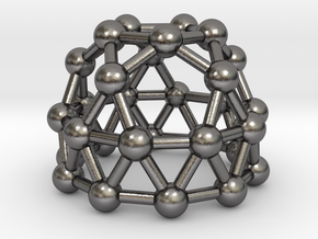 0790 J25 Gyroelongated Pentagonal Rotunda #3 in Polished Nickel Steel