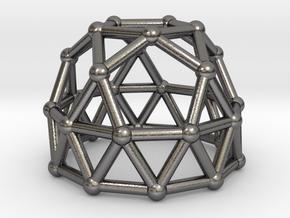 0789 J25 Gyroelongated Pentagonal Rotunda #2 in Polished Nickel Steel