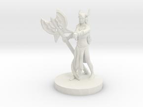 Barbarian Tiefling (Female) in White Natural Versatile Plastic