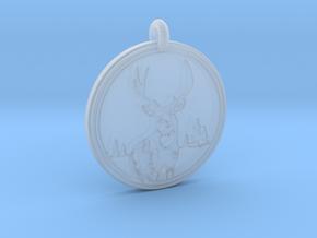 Mule Deer Animal Totem Pendant in Smooth Fine Detail Plastic