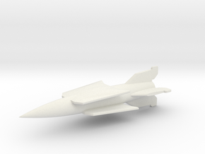 (1:285) V-2 Rakete mit Doppeldeckerflügel in White Natural Versatile Plastic