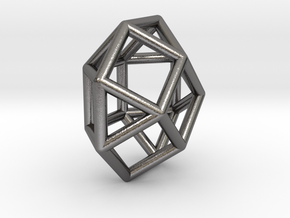 0800 J29 Square Gyrobicupola (a=1cm) #1 in Polished Nickel Steel