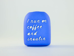 Coffee and Insulin - Omnipod Pod Cover in Blue Processed Versatile Plastic