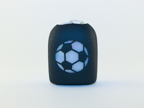 Soccer Ball - Omnipod Pod Cover in Black Natural Versatile Plastic