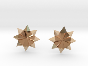 Starburst Stud Earrings in 14k Rose Gold Plated Brass