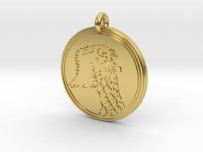 Ospray Animal Totem Pendant in Polished Brass