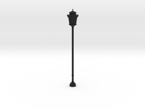 Street/Urban Lamp Post in Black Natural Versatile Plastic: 1:64 - S
