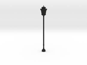 Street/Urban Lamp Post in Black Natural Versatile Plastic: 1:64 - S