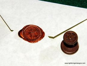 Gear Wax Seal in Matte Bronze Steel
