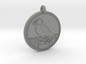 Puffin Animal Totem Pendant in Gray PA12
