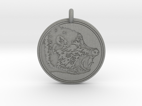 Javelina Animal Totem Pendant in Gray PA12