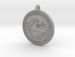 Sea Otter Animal Totem Pendant in Aluminum