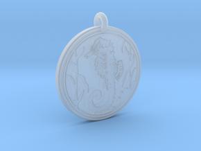 Sea Horse Animal Totem Pendant in Smooth Fine Detail Plastic