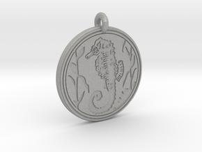 Sea Horse Animal Totem Pendant in Aluminum