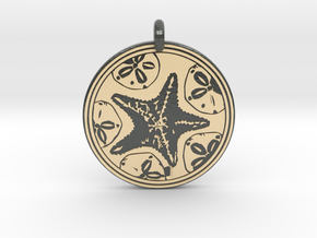 Sea Star ( Star Fish) Animal Totem Pendant in Glossy Full Color Sandstone