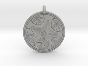 Sea Star ( Star Fish) Animal Totem Pendant in Aluminum
