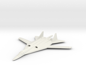 1/200 Russian PAK DA Bomber in White Natural Versatile Plastic