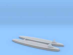 1/64 Surfboards for smaller roofs  in Smooth Fine Detail Plastic