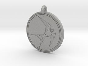 Swallow Animal Totem Pendant in Aluminum