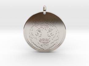 Tiger Animal Totem Pendant 2 in Platinum