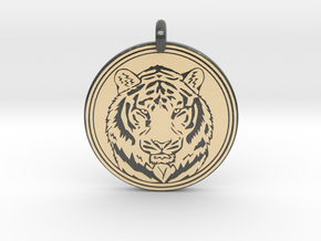 Tiger Animal Totem Pendant 2 in Glossy Full Color Sandstone