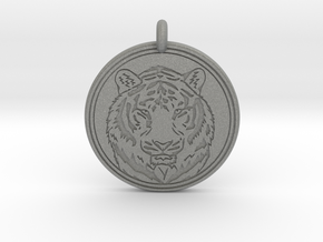 Tiger Animal Totem Pendant 2 in Gray Professional Plastic