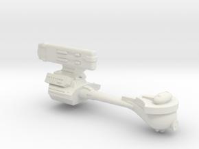 3125 Scale Klingon E5 Battle Corvette WEM in White Natural Versatile Plastic