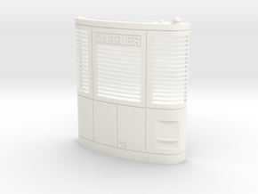 Carrier Reefer unit (hollow shell) in White Processed Versatile Plastic