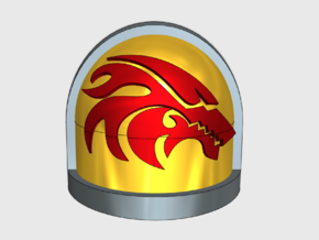 10x Flame Wolf - G:7a Right Shoulder in Smooth Fine Detail Plastic