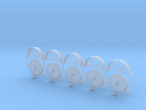 5 Stück Schlauch C-Rohr mit Halter 1:35 in Smooth Fine Detail Plastic