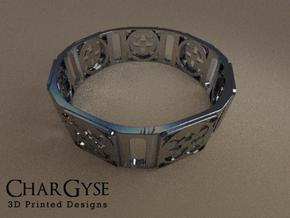 Bangle - Four Fountains in Smooth Fine Detail Plastic