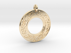 Devine Couple  Annulus Donut Pendant in 14K Yellow Gold