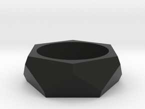 Parametric Faceted Bracelet in Black Natural Versatile Plastic