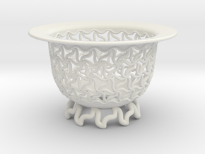 Neo Pot Triad 3in in White Natural Versatile Plastic