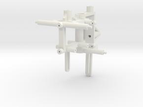 Nano CPX Frame For HP03SPE v1 & v2 Brushless Outru in White Natural Versatile Plastic