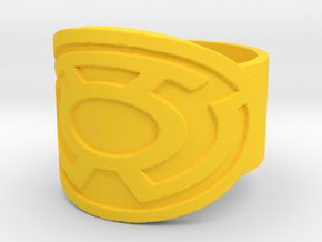 Sinestro Ring  in Yellow Processed Versatile Plastic: 10 / 61.5