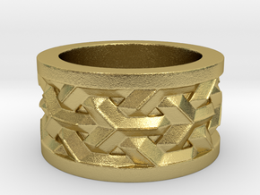 woven ring in Natural Brass: 5 / 49