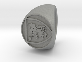 custom signet ring 85 in Gray PA12