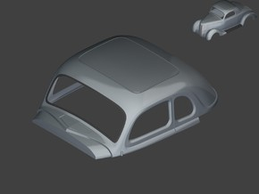 1935 & 1936 Ford Coupe 5 Window 1:8 1:12 1:16 in White Natural Versatile Plastic: 1:16