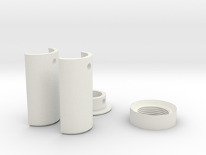 "7/8"" Pixel Strip Blade Adapter Kit in White Natural Versatile Plastic"