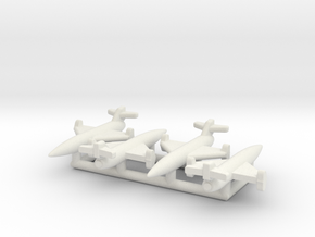 (1:144) (x4) Rheinmetall-Borsig F25 in White Natural Versatile Plastic