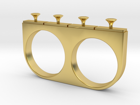 4-Drawer Ring in Polished Brass