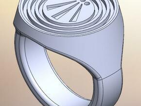 Awen Signet Ring in Raw Silver