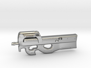 P90 gun  in Natural Silver