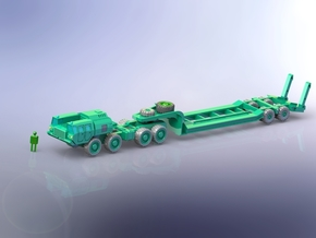 Russian MaZ 543 Tank-Transporter 1/200 in Smooth Fine Detail Plastic