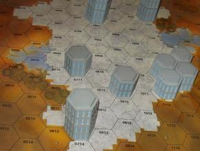 WHAM- Hex Building Stackable (1/160th) in Full Color Sandstone