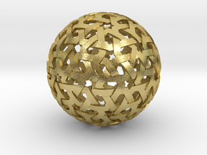 Geodesic Weave  in Natural Brass