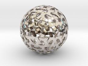Geodesic Weave in Rhodium Plated Brass