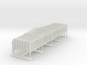 Southern Railway Standard Concrete Paling Fence in White Premium Versatile Plastic